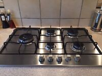 Whirlpool Double Integrated Oven & 5 Burner Hob