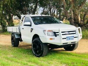 2013 Ford Ranger PX XL Double Cab White 6 Speed Manual Utility Kenwick Gosnells Area Preview