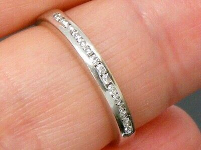 18ct Gold 18K Gold 0.20ct Diamond Eternity ring size H
