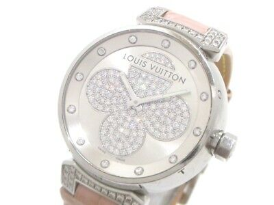 Auth LOUIS VUITTON Tambour Forever Q131P Silver Pink Women
