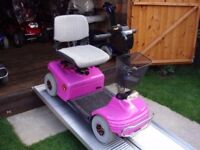 Rare Pink Shoprider Deluxe Mobility Scooter- Excellent Batteries Portable - Was £2200 Now Only £395