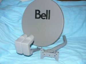Bell HD Satellite Dish for sale with mounting pole