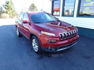 2017 Jeep Cherokee Limited 4x4 for $252 bi-weekly all in!