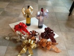 Holiday Wine Bottle Bows