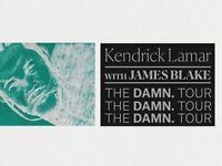 Kendrick Lamar Tickets 2x - The DAMN Tour with James Blake 12/02/2018