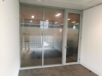 28 x IDENTICAL CAVITY GLASS PARTITION SYSTEMS 2.9 METRE WIDE x 2.72 METRE HIGH FOR £250 EACH