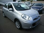 2014 Nissan Micra K13 MY13 ST Silver 5 Speed Manual Hatchback St Marys Mitcham Area Preview