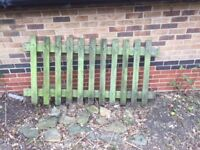 cottage garden fencing plus gate 10 panels ( bought from hassett fencing)