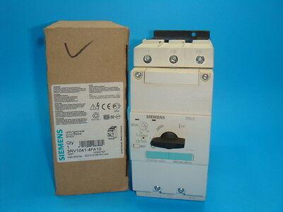 1 New Seimens 3rv1041-4fa10 Circuit Breaker 40amp 3pole 28-40a Adj Range Nib