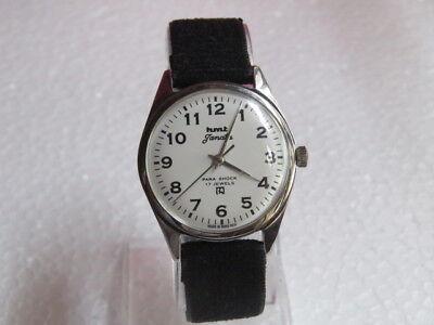 7eaea5bc4e0 Vintage HMT Janata 17 Jewels Winding wrist watch Model No. 417048 35 mm dial