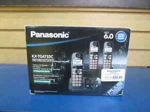 Ensemble de 3 combinées de marque Panasonic
