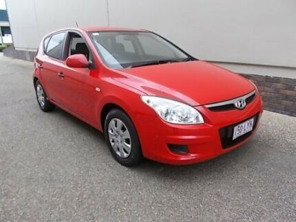 2009 Hyundai i30 FD MY09 SX Red 4 Speed Automatic Hatchback Slacks Creek Logan Area Preview