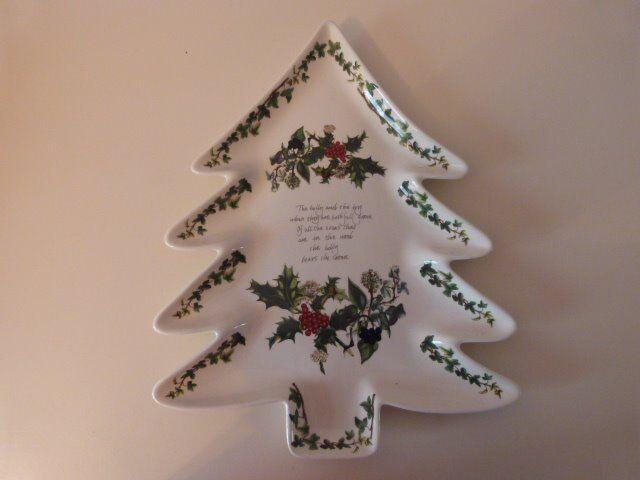 PORTMEIRION CHRISTMAS TREE PLATTER/ PLATE