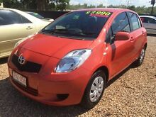 2007 Toyota Yaris NCP90R YR Orange 5 Speed Manual Hatchback Holtze Litchfield Area Preview