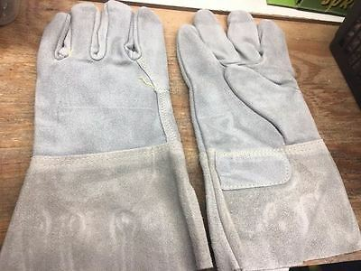 Gloves 12 Cuff Welder Blue Leather Pk2 X12927-wh06-2a