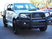 2013 Toyota Hilux KUN26R MY12 SR Double Cab Silver 5 Speed Manual Cab Chassis Hoppers Crossing Wyndham Area Preview
