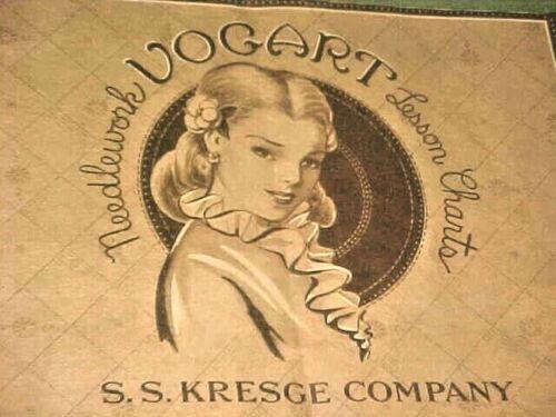 Vintage Antique Early 1940s Kresge Vogart Needlework Booklet