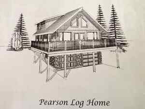 Log home manufactured package