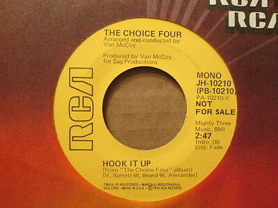 - The CHOICE FOUR -  Hook It Up (MONO)  RCA JH-10210 (promo)  45rpm