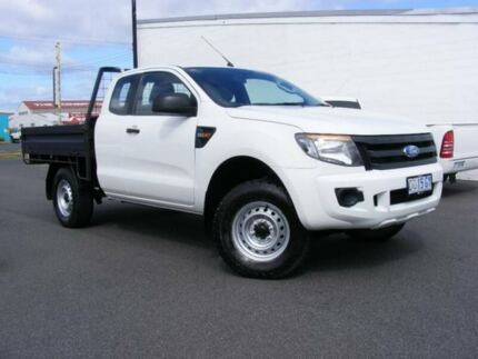 2011 Ford Ranger PX XL Super Cab 4x2 Hi-Rider White 6 Speed Sports Automatic Cab Chassis Devonport Devonport Area Preview