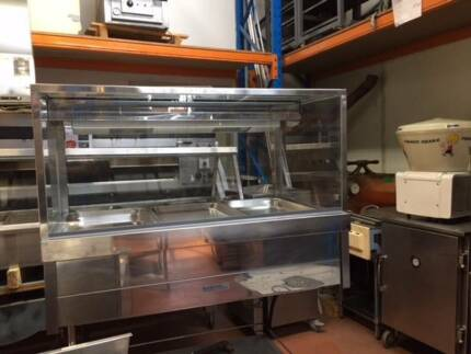 ROBAND Square Glass Hot Foodbars SECOND HAND CATERING EQUIPMENT