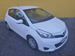 2014 Toyota Yaris NCP130R YR White 4 Speed Automatic Hatchback Winnellie Darwin City Preview