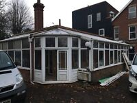 Large lean to conservatory 11m x 4m plus corner with further 7m x 4