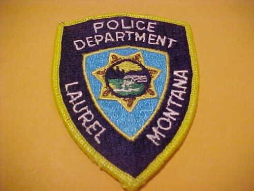 LAUREL  MONTANA POLICE PATCH SHOULDER SIZE  USED 3 3/4 X 3