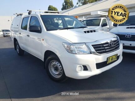 2013 Toyota Hilux KUN16R MY14 SR White 5 Speed Manual Dual Cab Pick-up Canley Vale Fairfield Area Preview