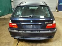 BMW E46 ESTATE 2004 ORIENT BLUE CHEAP REAR TAILGATE - ono