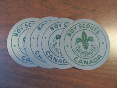Boy Scouts Canada Gray Background Oil Cloth Patches, Lot of 5       c37