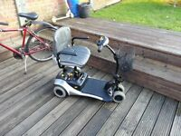 SHOPRIDER MOBILITY SCOOTER, FITS IN CAR BOOT,