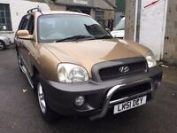 2001 Hyundai Santa Fe automatic, starts and drives very well, MOT until 28th December, leather inter