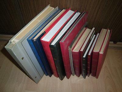 Sammlung Posten Schweiz 1910-1990 in 12 Büchern, meist gestempelt (6712)