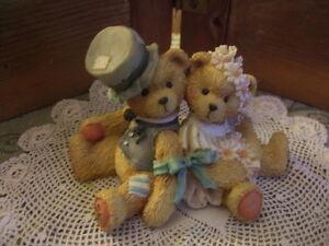 Cherish Teddies Collectable-Robbie and Racheal
