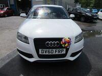 Audi A3 TDI S LINE 3d 138 BHP £30 a year road tax ! (white) 2010