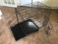 Dog training cage / crate, playpen & puppy pad tray
