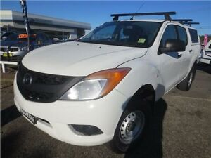 2014 Mazda BT-50 UP0YF1 XT 4x2 Hi-Rider White 6 Speed Sports Automatic Utility Cardiff Lake Macquarie Area Preview