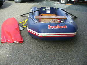 9 ft. BOMBARD INFLATABLE BOAT- AIR FLOOR-WOOD CASTING PLATFORM