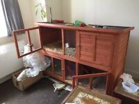 Luxury waterproof wooden hutch suitable for rabbits and guinea pigs excellent condition