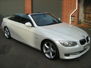 2011 BMW 325i E93 MY11 Mineral White 6 Speed Auto Steptronic Convertible North Melbourne Melbourne City Preview