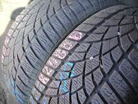 225/40/18 Dunlop 3D, M+S Winter, XL, Audi x2 A Pair, 7.3mm (168 High Road, Romford, RM6 6LU) Used