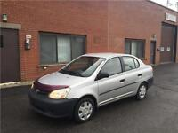 2003 TOYOTA ECHO-manuel- ECONOMIC ET FIABLE-aubaine 1600$