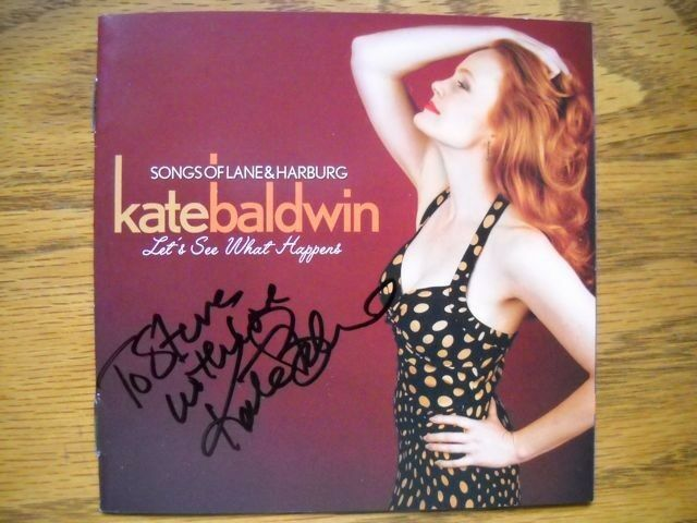 Kate Baldwin Signed / Inscribed New CD titled Let's See What Happens Autographed