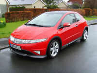 Honda Civic 1.8i-VTEC Type S GT Red FSH (58 Reg) Panoramic Sunroof