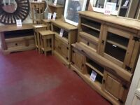 New boxed Solid Cheap Furniture to take home today Sideboards tables TV units Beds etc.