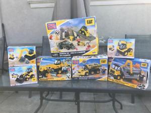 Mega Blok Cat Construction Vehicle & Excavation sets