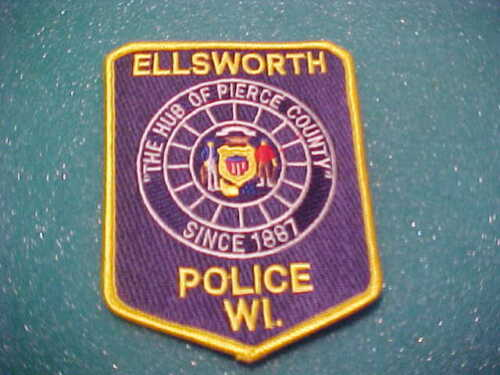 ELLSWORTH WISCONSIN POLICE PATCH SHOULDER SIZE UNUSED