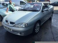 2001 Renault Megane convertible, starts and drives well, 1 years MOT (runs out July 2017) electric r