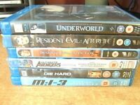 7 BLU RAY DVD'S NICE SELECTION + 6 DVD'S FOR FREE
